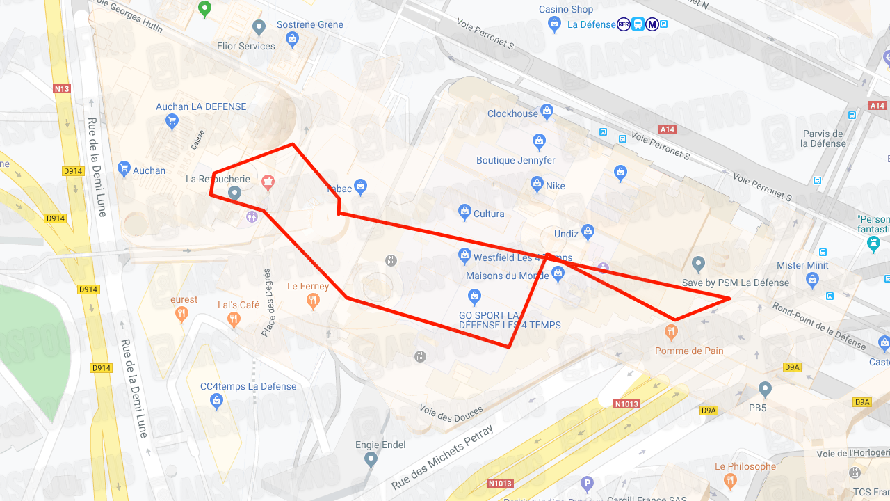 Paris Mall GPX Map
