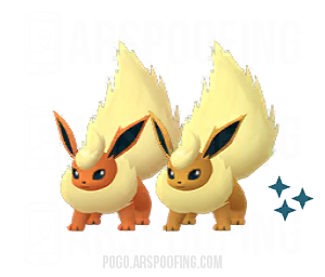 Shiny Flareon Comparison