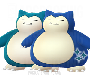 Shiny Snorlax Comparison